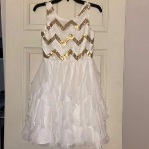 Girls 16 holiday formal dress sequin emily west